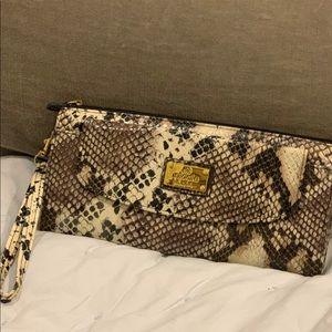 Nicole Miller Snakeskin Wristlet/Wallet